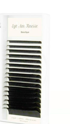 Picture of Silk-black Mixed  8-14mm 0.15 Curl – C